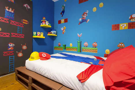 Gaming-Themed Rental Rooms - This Video Game-Themed Room on Airbnb Appeals to Super Mario Fans