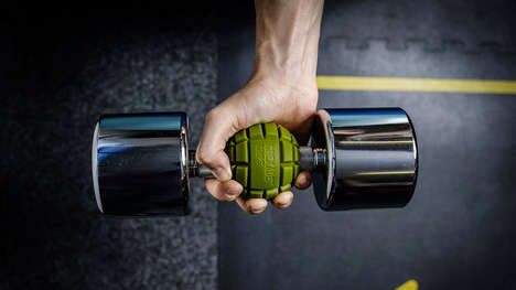 Workout-Intensifying Weight Grips - The Grenade Grips Arm Rippers Activate More Muscle Groups
