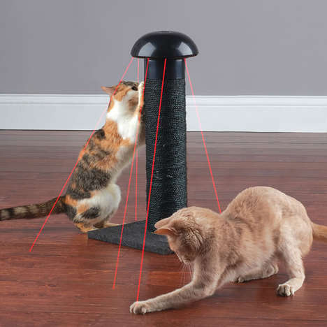 Digital Feline Scratch Posts - The Laser Cat Scratching Post Provide Playful Options for Felines