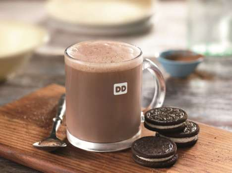 Cookie-Flavored Hot Chocolates - Dunkin' Donuts Recently Added Oreo Hot Chocolate to Its Fall Menu