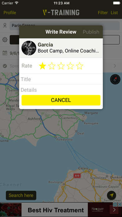 Congruous Personal Trainer Apps - The V-Training App Helps Users Find the Right Trainer For Them