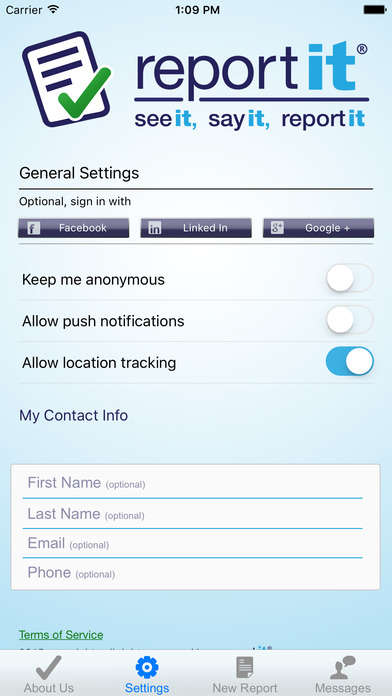 Confidential Crime-Reporting Apps - The ReportIt App Lets Americans Report Crimes Anonymously