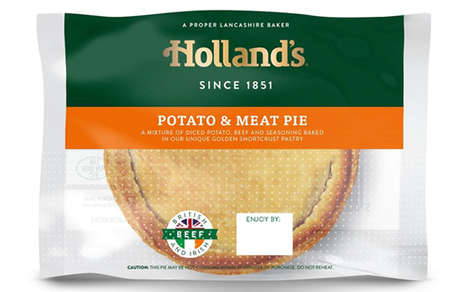 Oven-Proof Pie Packaging - The New Holland's Pies 'Food to Go' Counter Food Packaging is Practical