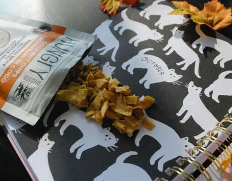 Pumpkin-Flavored Coconut Chips - Hungry Buddha's Coconut Snacks Come in a Pumpkin Spice Flavor