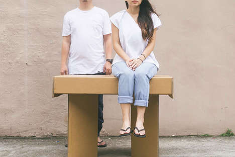 Portable Cardboard Tables - The 'Table-Case' Cardboard Table is Crafted from One Piece of Paper
