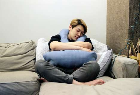 Stress-Reducing Pillows - The 'Hygge' Comfort Pillow Encourages Cuddling to Reduce Anxiety