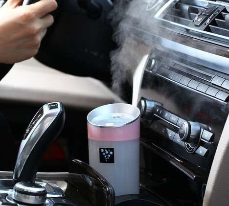 Vehicular Oil Diffusers - This Aromatherapy USB Diffuser Provides Stress Relief in Traffic