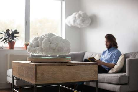 Levitating Cloud Speaker Lights - 'Making Weather' Plays Music and Creates a Natural Light Show
