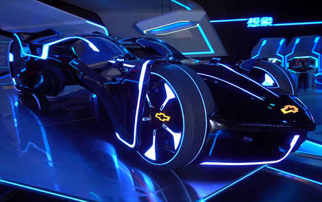Scale Supercar Displays - The Qing Yi Concept Supercar is Displayed at the Shanghai Disney Resort