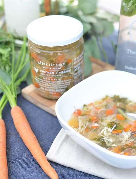 Single-Serve Soup Jars - kitskitchen Sells Its Fresh, Local and Seasonal Soup in a Jar