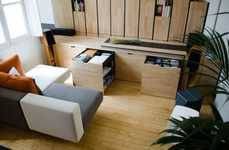 Miniature Transforming Apartment Spaces