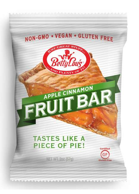 Pie-Flavored Snack Bars - Betty Lou's Fruit Bars Boast Flavors That Remind of Fresh Pie Slices