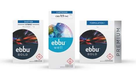 Contemporary Cannabis Packaging - ebbu's Bold and Well Branding Establishes It as a Lifestyle Brand