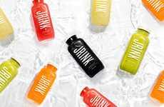 Ingredient-Focused Juice Packaging - JRINK Juicery Cold-Pressed Fresh Juices are Minimally Branded