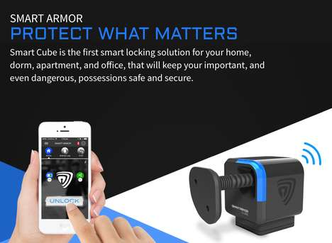 App-Controlled Locks - The Smart Cube Bluetooth Lock Lets You Control Your Lock From Afar