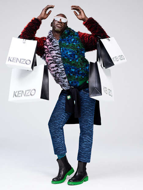 Eccentric Collaborative Lookbooks - The H&M and Kenzo Lookbook Highlights the Work of Many Designers