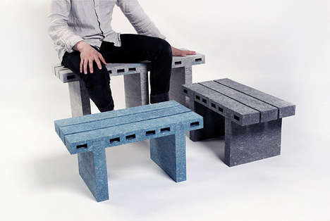 Recycled Newspaper Furniture - WooJai Lee's 'PaperBricks' Project Features Smart Sustainable Designs