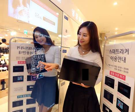 Retail Grocery Lockers - Lotte Department Store and SK Telecom Launched In-Store Storage Lockers
