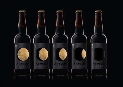 Lunar Beer Branding - This Beer Labeling is Offered in Limited Edition Bottles