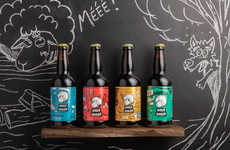 Sheep-Inspired Beer Labels
