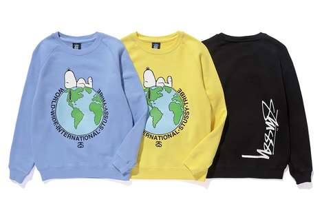 Cartoon-Covered Children's Apparel - This Release from Stussy Kids Makes Use of the Peanuts Cartoon