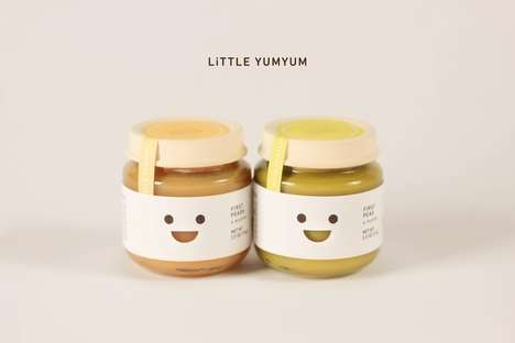 Grinning Pablum Packaging - Yumyum Baby Food is Simple, Sweet and Designed to Make Parents Smile