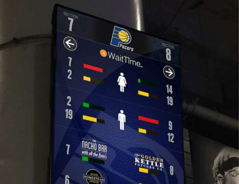 Queue-Avoiding Stadium Systems - WaitTime Uses AI to Help Stadium-Goers Get Concessions Smartly