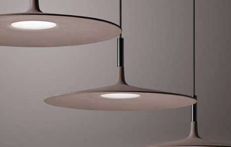 Pancake Pendant Lamps - The Aplomb Large Light Is Seemingly Impossibly Made from Ultra-Thin Concrete