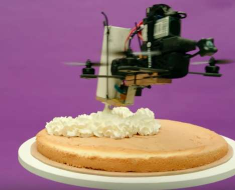 Cake-Creating Drone Commercials