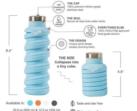 Compressible Travel Bottles