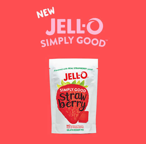 Natural Gelatin Desserts - Jell-O's 'Simply Good' Line Blends Gelatin with Real Fruit Juices