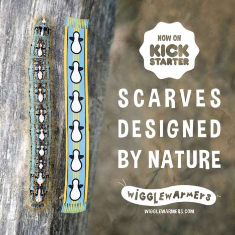 Insect-Inspired Scarves - 'Wiggle Warmers' Feature Unique Designs Inspired by Caterpillars