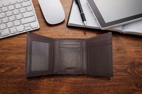 Slim Integrated Wallets - This Smart Wallet Connects to Smartphones Via an App