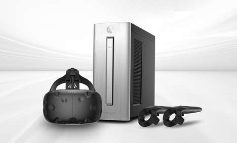 VR-Ready Computer Sets - The HTC Vive Ready HP Computer Bundle Packs Everything for VR
