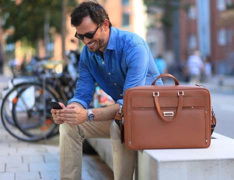 Compartmentalized Briefcase Bags - 'THE WINGCASE' Men's Briefcase Adapts to Different Needs