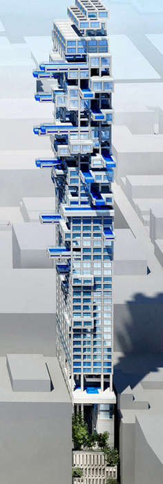 Sky Pool Condominiums - 'Fifth and Hill' will Have Dozens of Cantilevered Swimming Pools