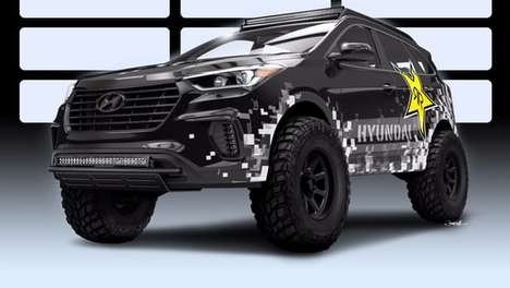 Menacingly Modified Trucks - This Crossover Truck Was Devised By Hyundai and Rockstar