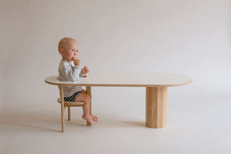 Baby-Holding Coffee Tables - The 'Boida' Table Allows Busy Parents to Multitask