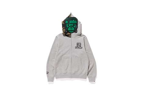 Man-Made Monster Apparel - These BAPE Hoodies and More Feature a Baby Milo Frankenstein