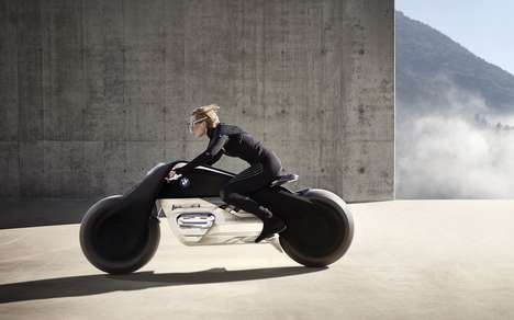Supremely Safe Motorcycle Concepts - BMW's Motorrad Vision Next 100 Riders Can Drive Without Helmets