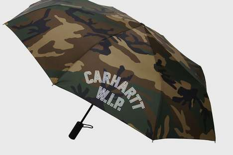 Collaborative Camouflage Umbrellas - London Undercover Released a Line of Rain Gear with Carhartt
