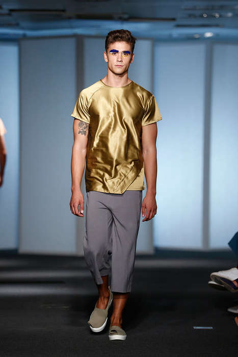 Outsourced Metallic Menswear - AWAYTOMARS Implemented the Input of a Global Community for Its Series
