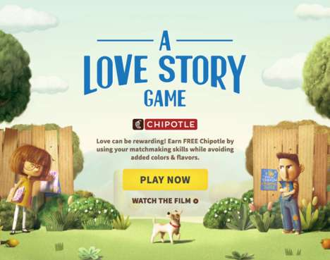 Authentic Food Games - Chipotle's 'A Love Story' Challenges Players to Avoid Additives