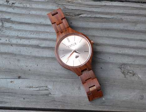 Reclaimed Wood Timepieces - The Tempus Men's Dress Watches are Eco-Friendly and Stylish