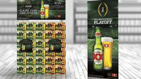 Beer-Themed Football Sweepstakes - This Dos Equis Promotion Helps College Football Fans Celebrate