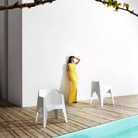 Sculptural Stackable Chairs - These Karim Rashid Chairs Futuristically Complement Outdoor Settings