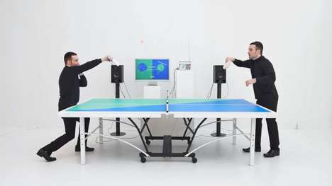 Rhythmic Ping Pong Games - 'Ping Pong FM' Players Need to Cooperate to Hit the Ball to the Beat