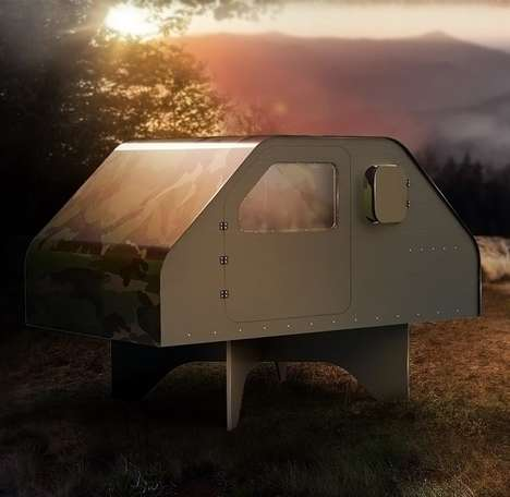Permanent Multi-Use Tents - The 'Duffy Shelter' Serves as a Home Base for Wilderness Explorers