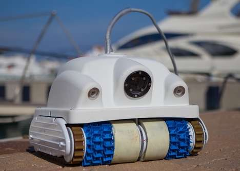 Boat Maintenance Drones - The 'Keelcrab' Underwater Drone Performs Boat Cleaning and Inspection