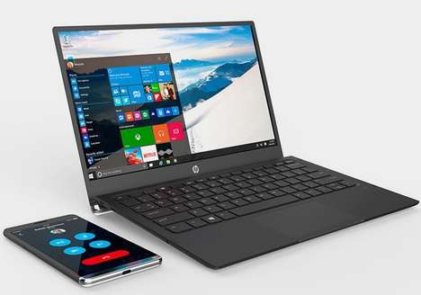 Smartphone-Powered Laptops - The HP Elite x3 Lap Dock Brings the Smartphone to a Computer Interface